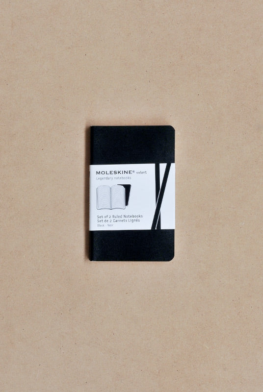 Moleskine - Volant - Extra Small (7x10cm) - Ruled Notebook - Black - Soft Cover