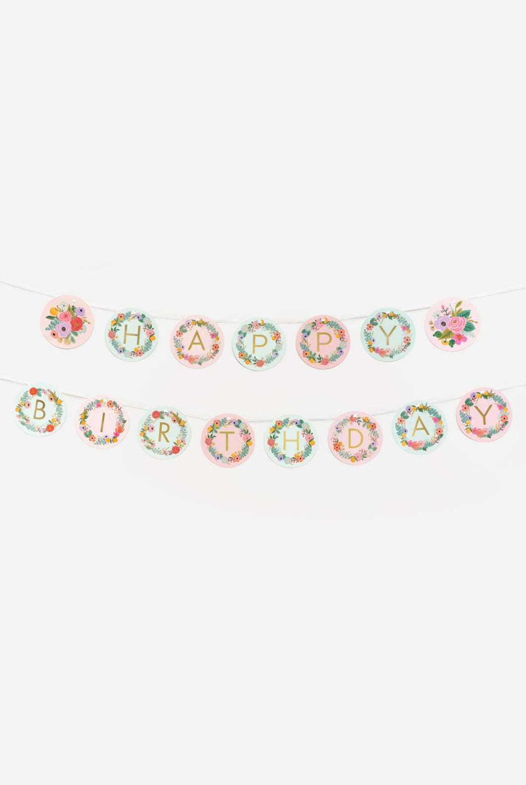 Rifle Paper Co - Paper Letter Garland - Garden Party