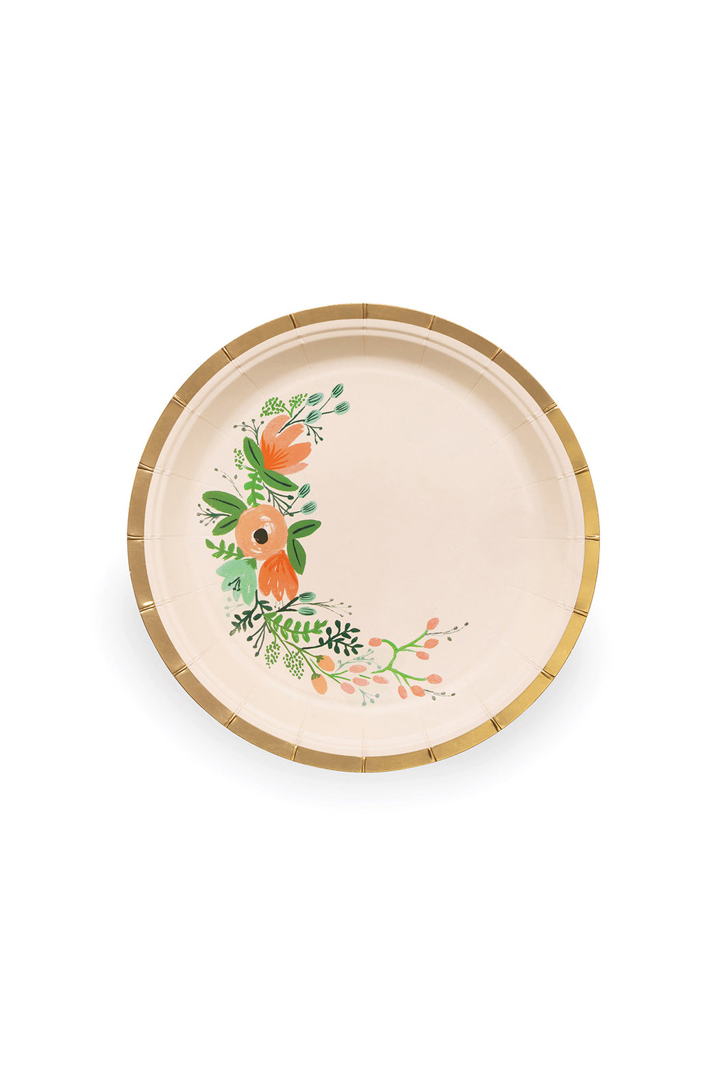 Rifle Paper Co - Paper Plates - Set of 10 - Small - Wild Rose