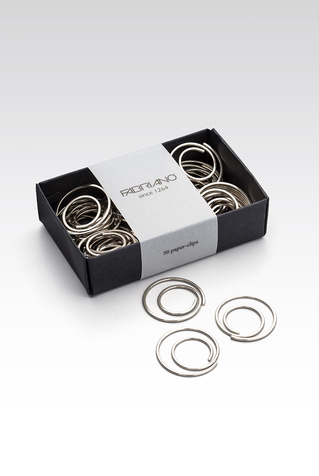 Fabriano Boutique - Spiral Paperclips - Box of 50 - Silver