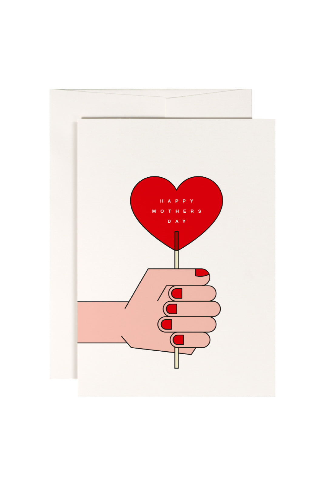 redfries - Single Card - Red Lollipop Mother's Day