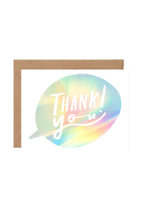 WRAP - Sandi Falconer Collection - Single Card with Foil - Thank You Bubble