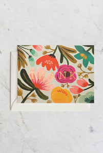 Rifle Paper Co - Single Card - Gold Floral Thank You