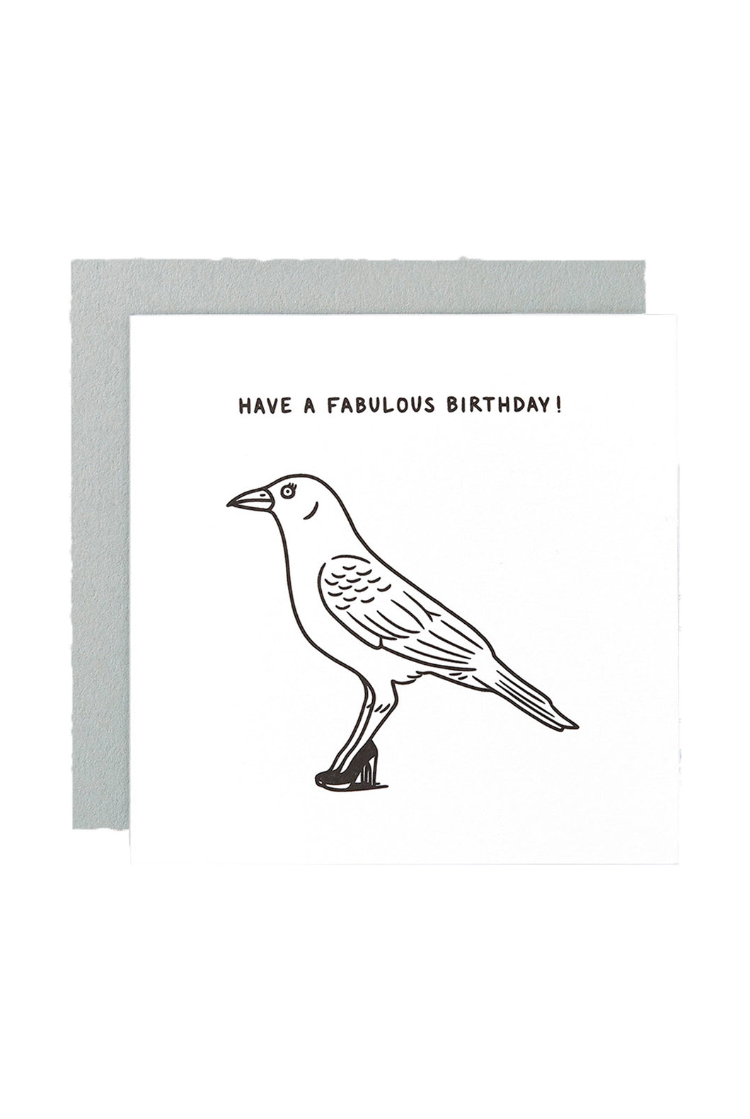 WRAP - Matte Blease Collection - Single Letterpress Card - Fabulous Birthday