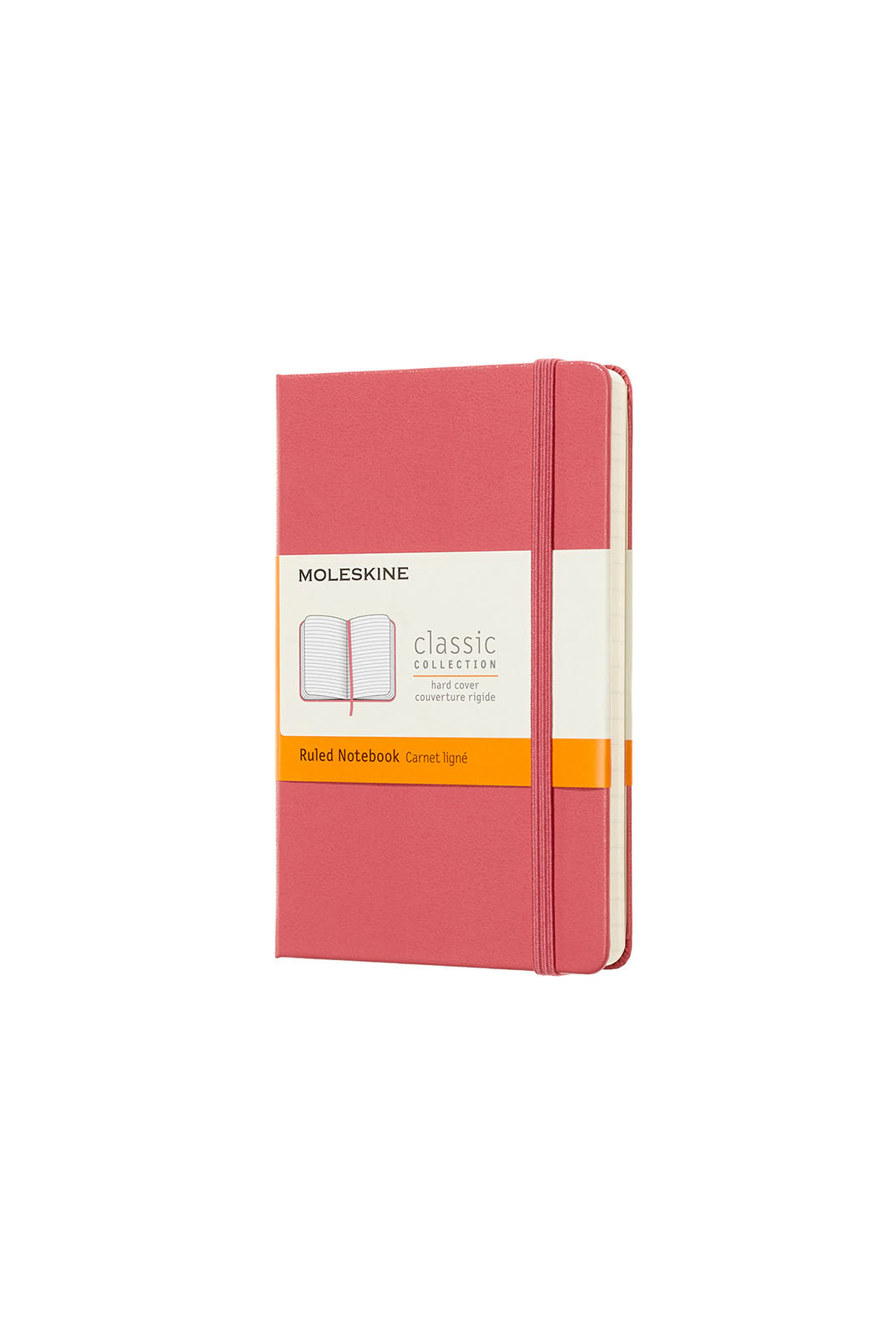 Moleskine - Classic Hard Cover Notebook - Ruled - Pocket (9x14cm) - Daisy Pink