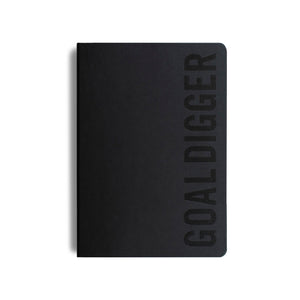 MiGoals - 2021 Bold Goal Digger Diary - Weekly Action - B5 - Soft Cover - Black