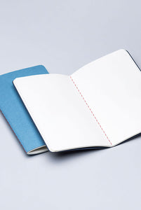 Fabriano Boutique - Notebook - Set of 2 - Plain - A6 (9x14.2cm) - Dark Blue & Light Blue