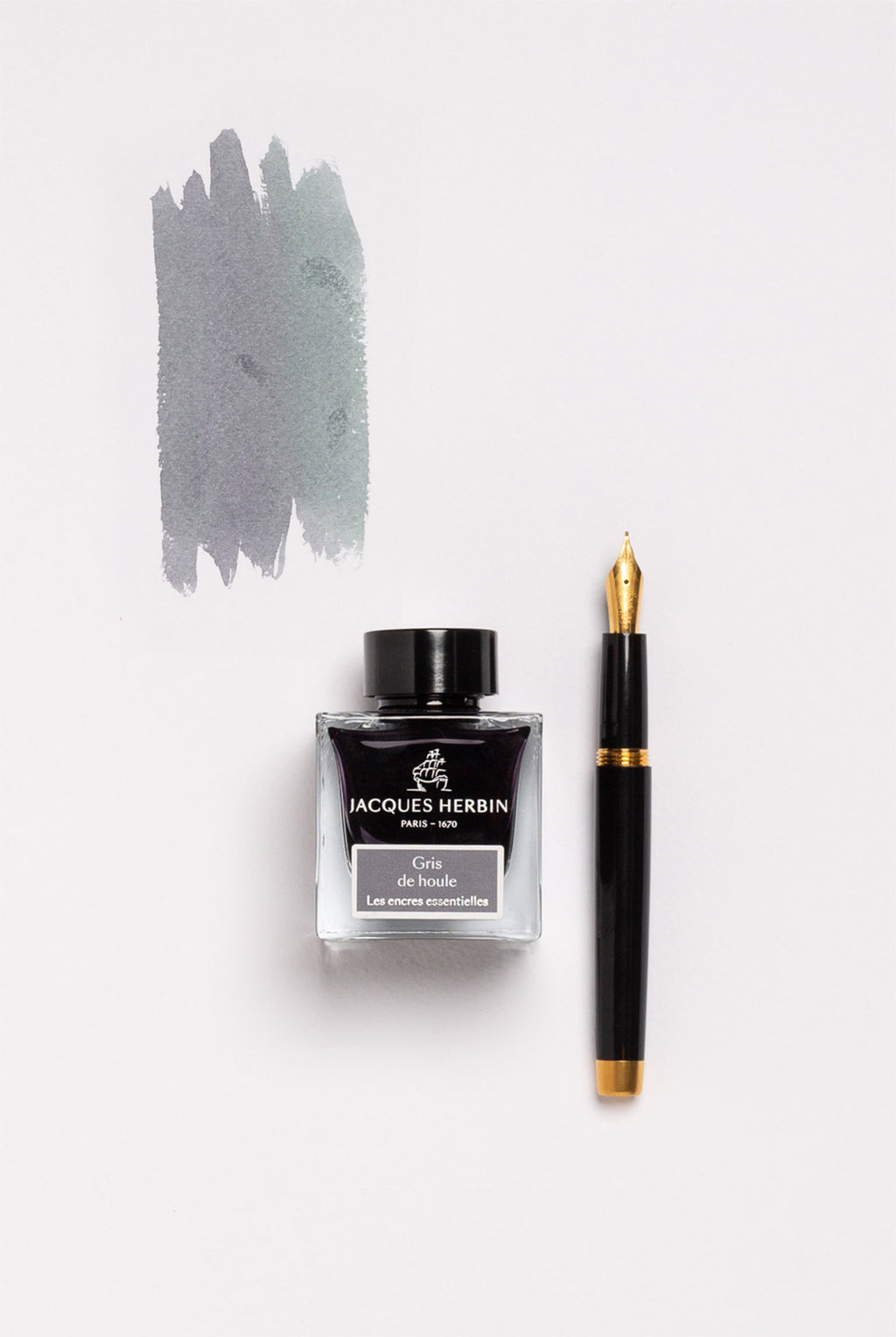 Jacques Herbin - The Essentials - 50ml Bottle Ink - Swell Grey (Gris de houle)