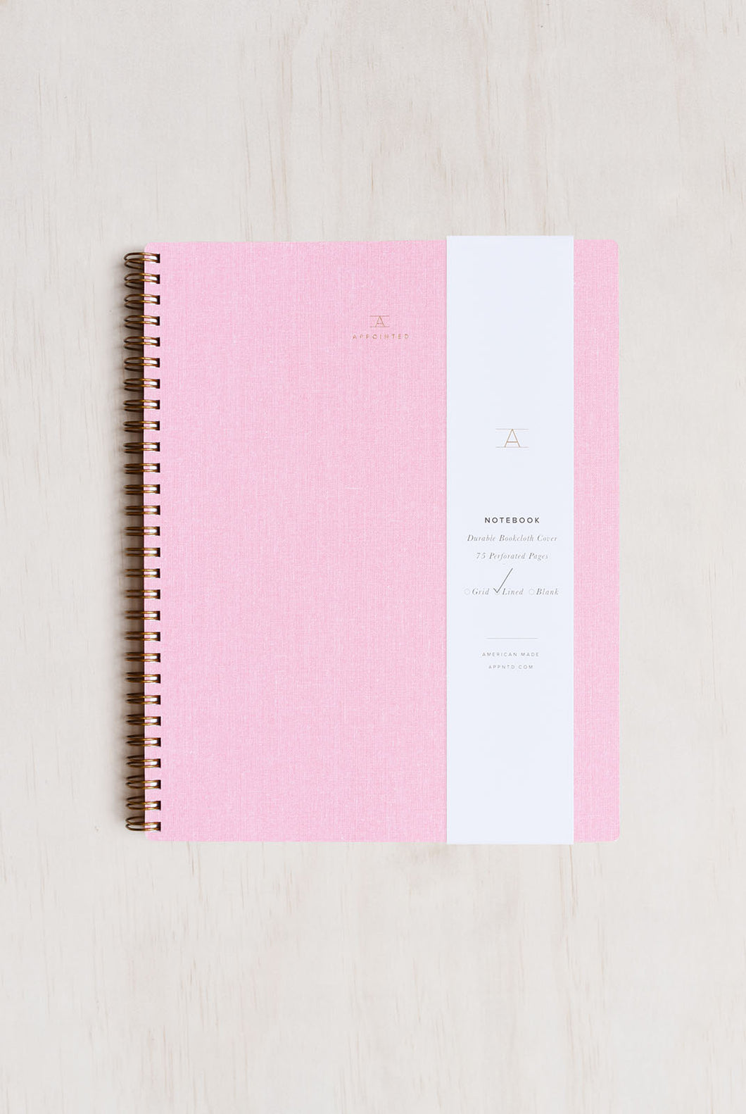 Appointed - Notebook - Ruled - Extra Large (19 x 24cm) - Soft Cover - Blossom Pink