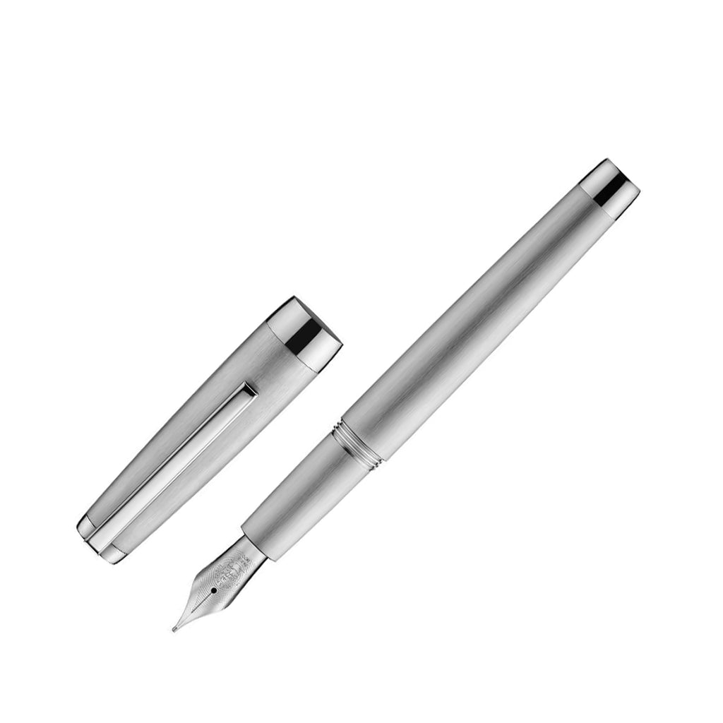 Jacques Herbin - Metal Fountain Pen - Medium - Brushed & Polished Palladium