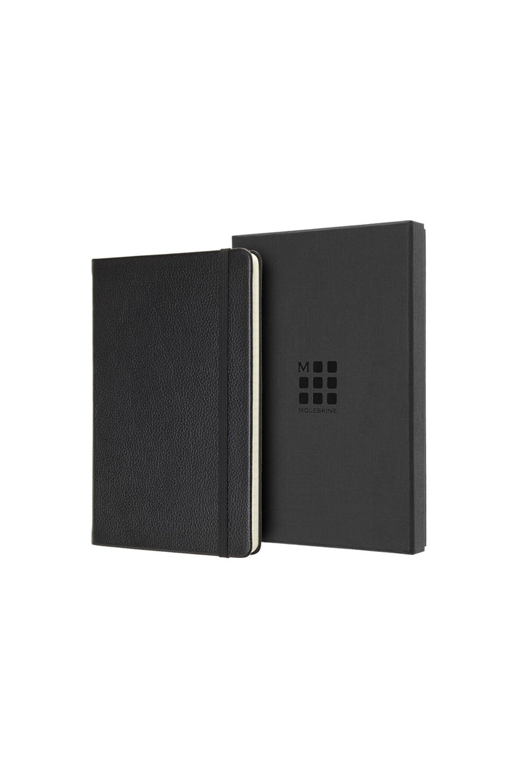 Moleskine - Genuine Leather Notebook - Ruled - Large - Black