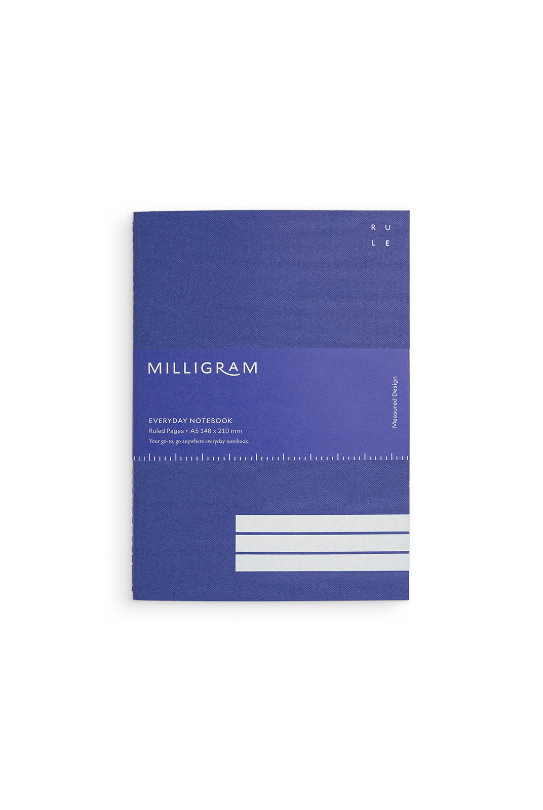 Milligram - Everyday Notebook - Ruled - A5 - Blue