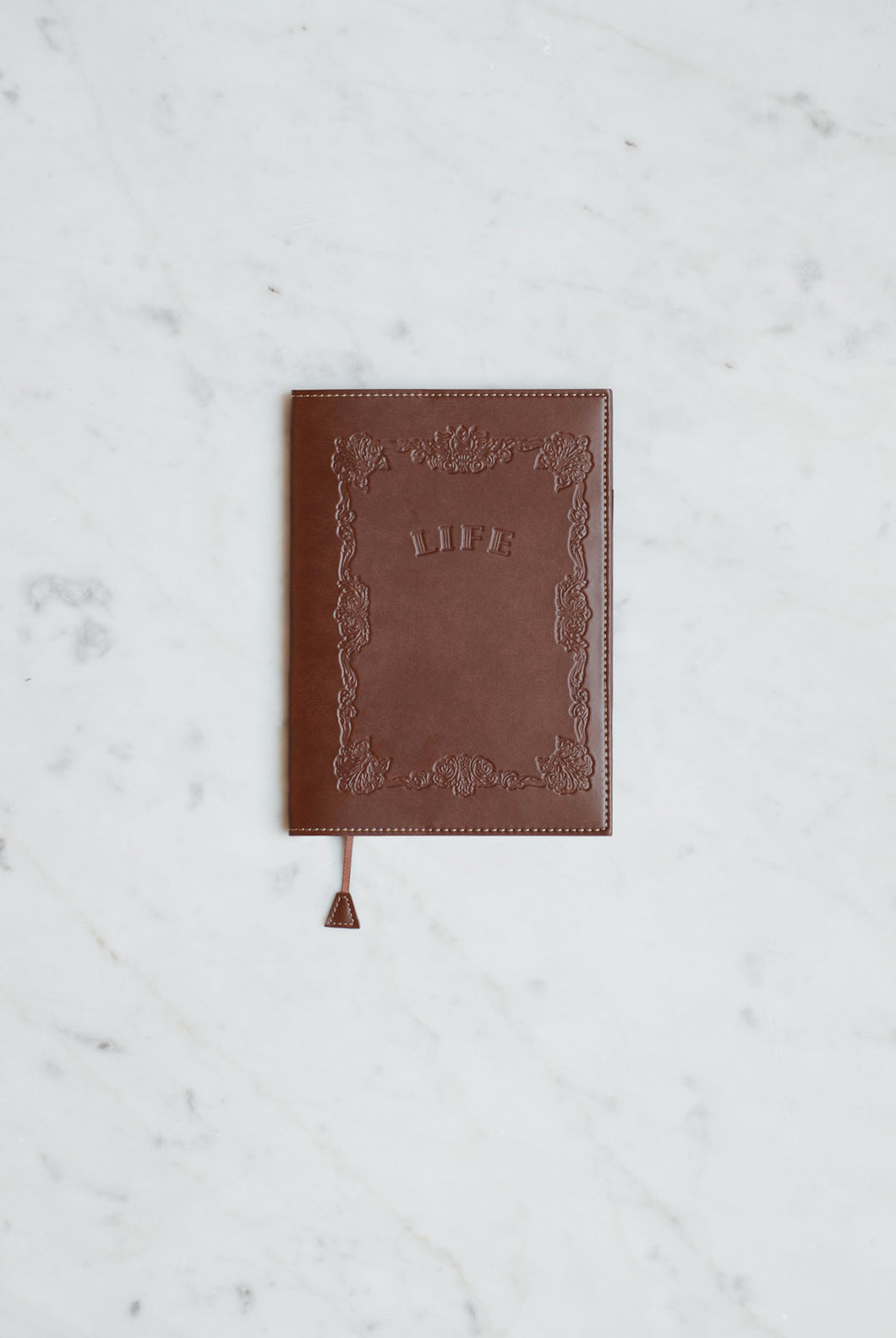 Life Stationery - Noble Note Leather-Look Cover - B6 (13x18cm) - Ruled - Tea Brown