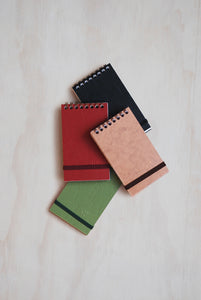 "Clairefontaine - ""Life Unplugged"" Reporter Pad - Mini (8x13cms) - Ruled - Hard Cover - Assorted Colours"