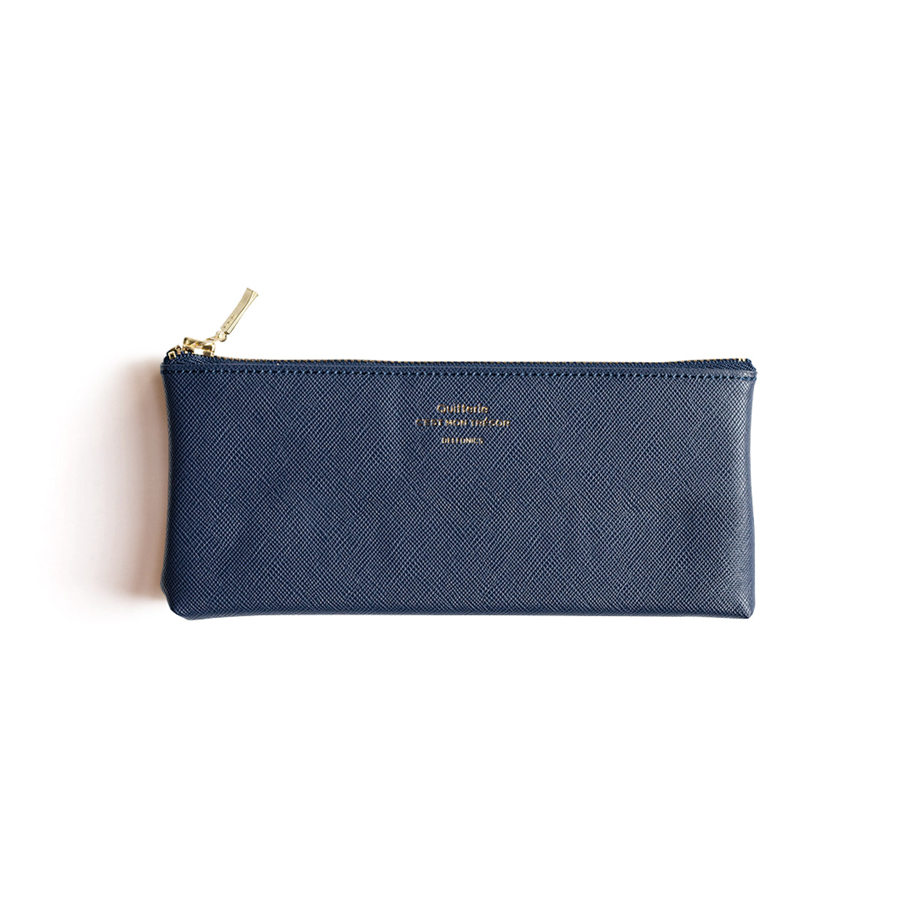 Delfonics - Quitterie Flat Pencil Case - Dark Blue