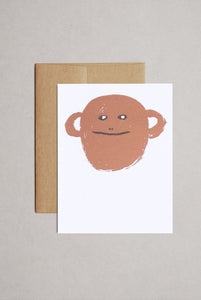 Egg Press - Single Card - Monkey Face Blank