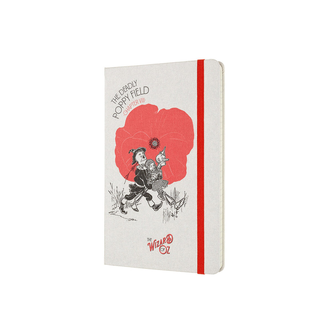 Moleskine - 2020 Limited Edition Wizard of Oz - Ruled - Large - Poppy Field