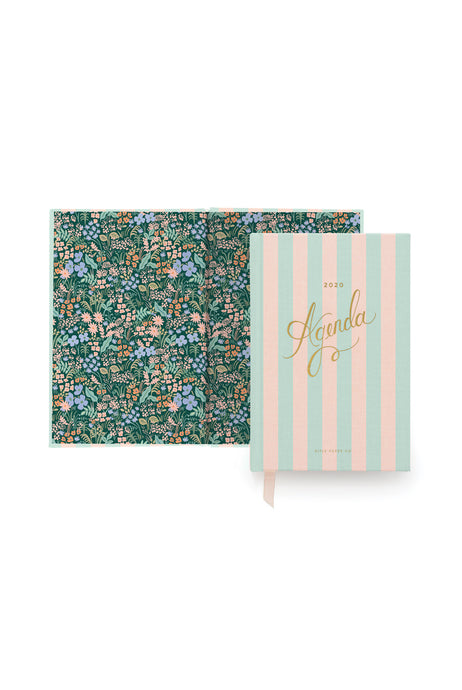 Rifle Paper Co - 2020 Weekly Agenda Planner - Large (13.5 x 20cm) - Hard Cover - Cabana