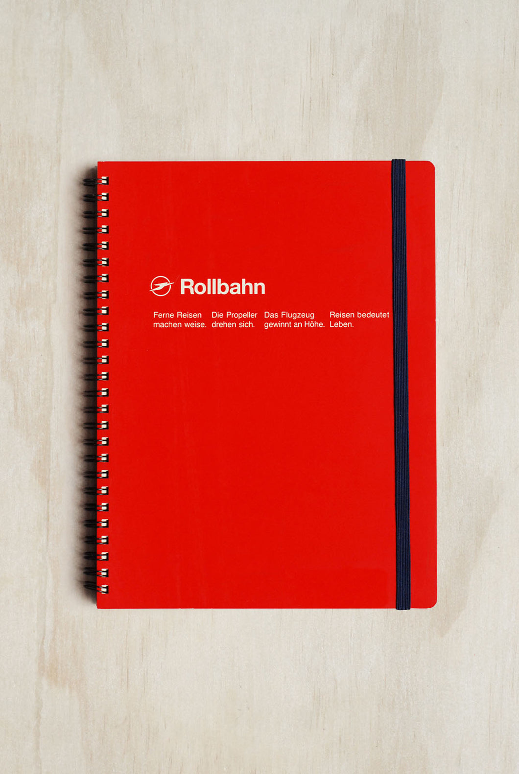 Delfonics - Rollbahn Notebook - Grid - Extra Large (21x26cm) - Red
