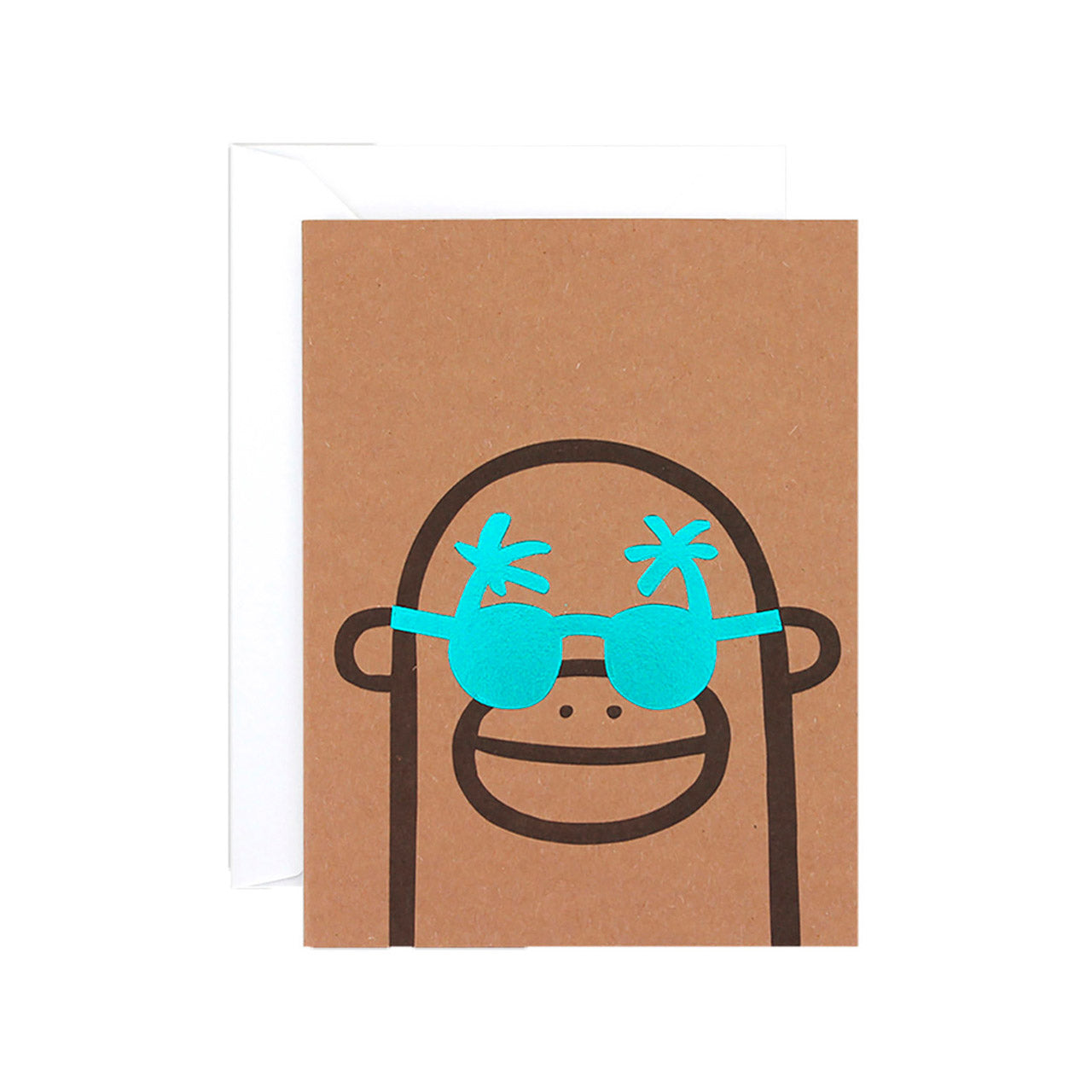 WRAP - Alice Bowsher Collection - Single Letterpress Card - Monkey