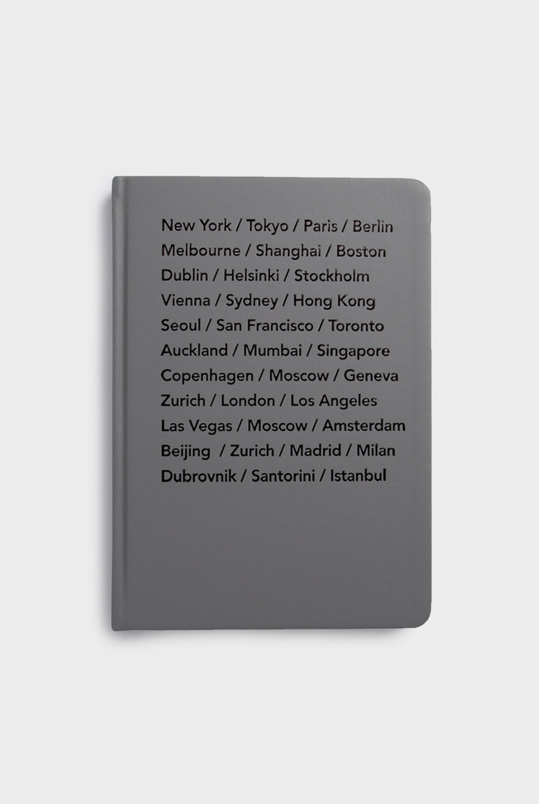 MiGoals - Bucket List Cities Journal - A5 - Hard Cover - Grey