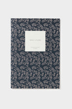 Load image into Gallery viewer, Kartotek - Leaves Notebook - Ruled - Large - Navy