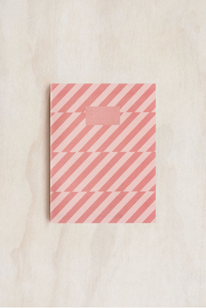 O-Check Design Graphics - Exercise Book - Ruled - Medium (14x19cm) - Pink