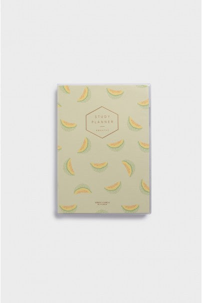 O-Check Design Graphics - Undated 6 Months Study Planner - Weekly & Monthly - Medium - Melon