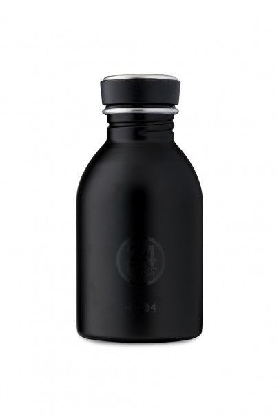 24Bottles - Basic Collection - Urban Bottle - Stainless Steel Drink Bottle - 250ml - Tuxedo Black