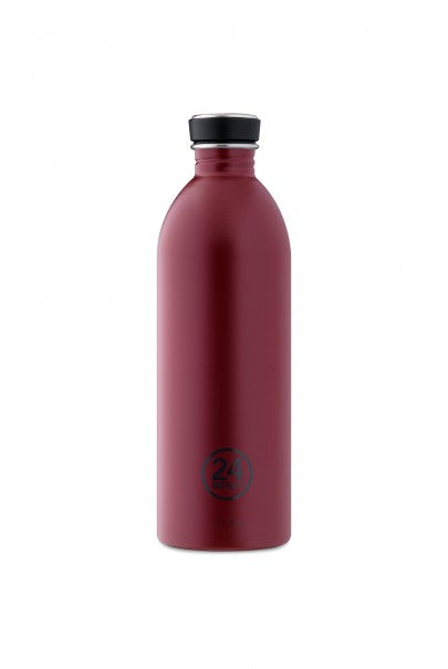 24Bottles - Earth Collection - Urban Bottle - Stainless Steel Drink Bottle - 1000ml - Country Red