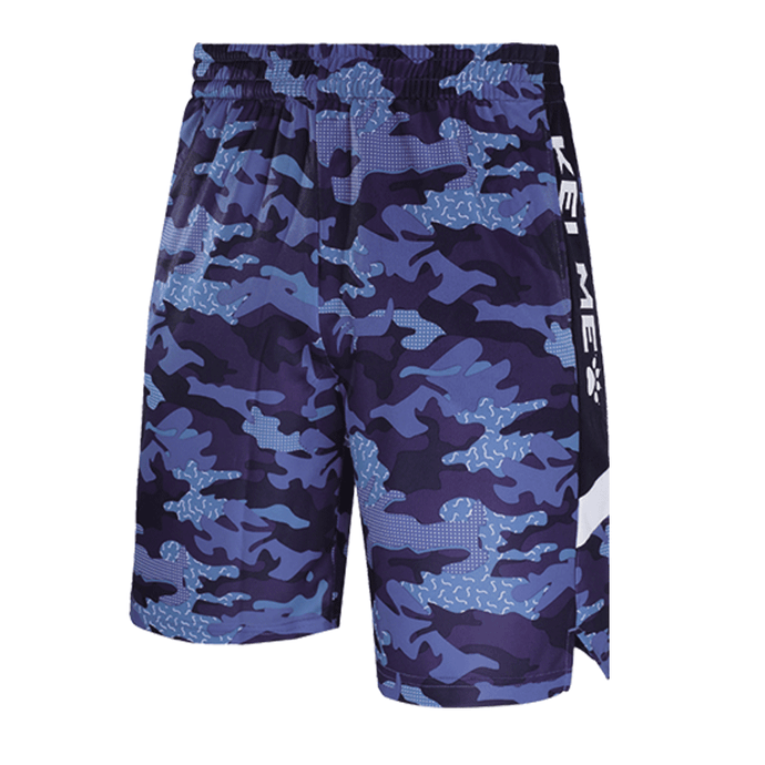 Men's Basketball Shorts-Camouflage Blue