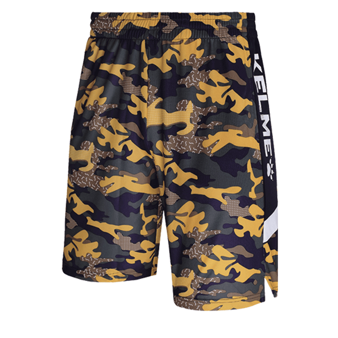 Men's Basketball Shorts-Camouflage Yellolw