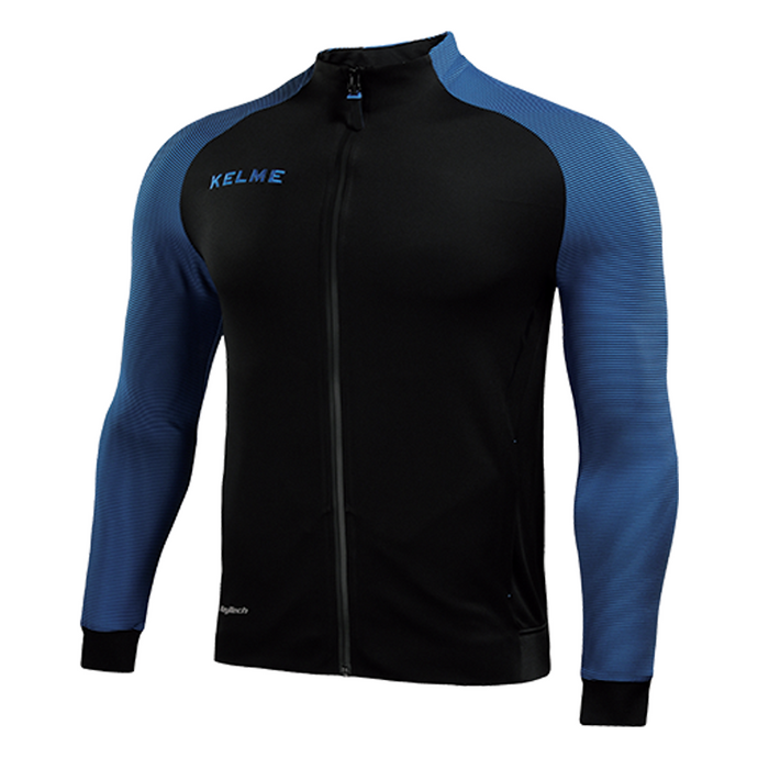 Training Jacket Black / Neon Blue