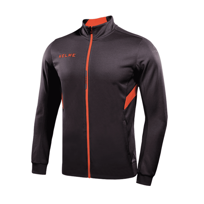Training Jacket Adult Gray / Neon Orange