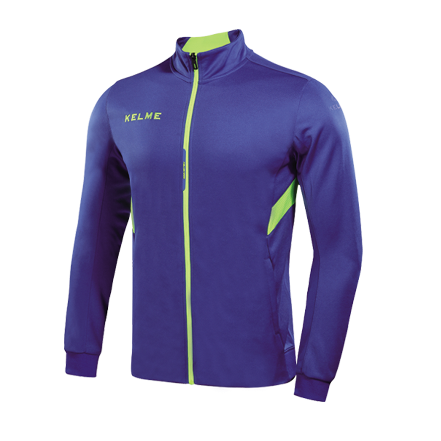 Training Jacket Adult  Royal Blue / Neon Yellow