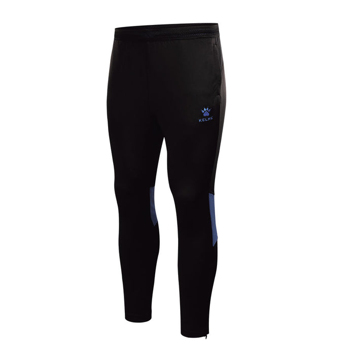 Adult Training Pants Black / Neon Blue