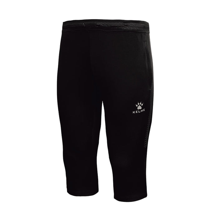 3/4 Adult Training Pants Black/Silver