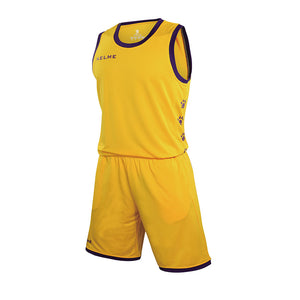 Men's Basketball Set Yellow Purple