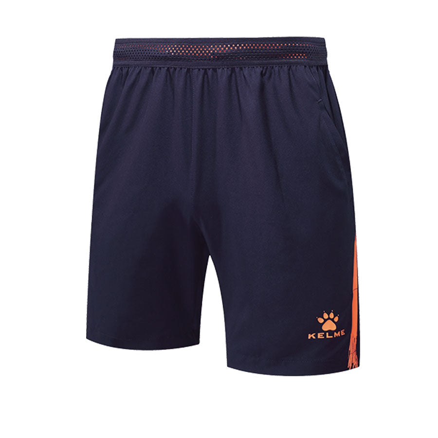 Woven Shorts Dark Blue / Neon Orange