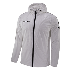 Windproof Rain Jacket Adult White / Black