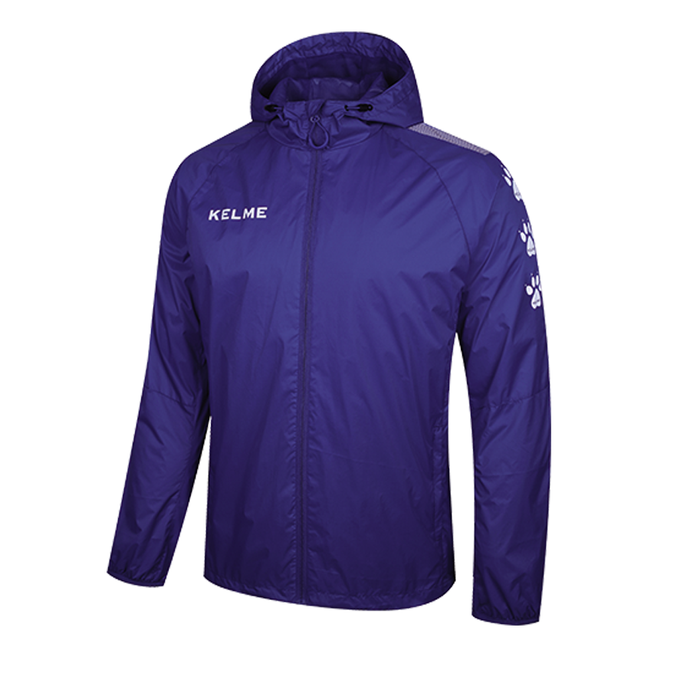 Windproof Rain Jacket Adult Royal Blue / White