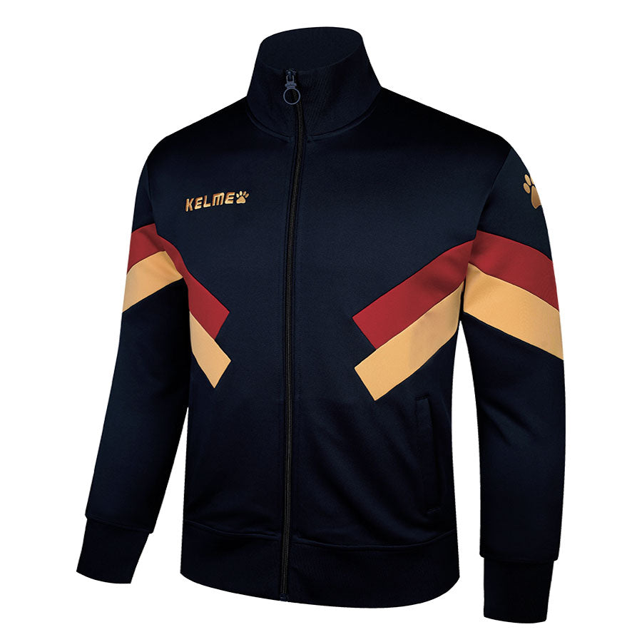 Men's Training Jacket Dark Blue/ Red and Yellow