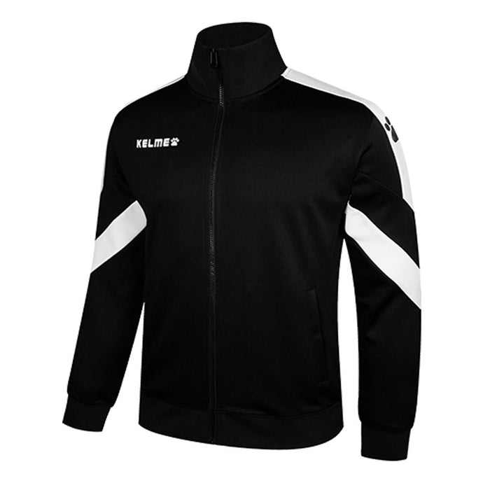 Knitted Adult Training Jacket/ Black and White