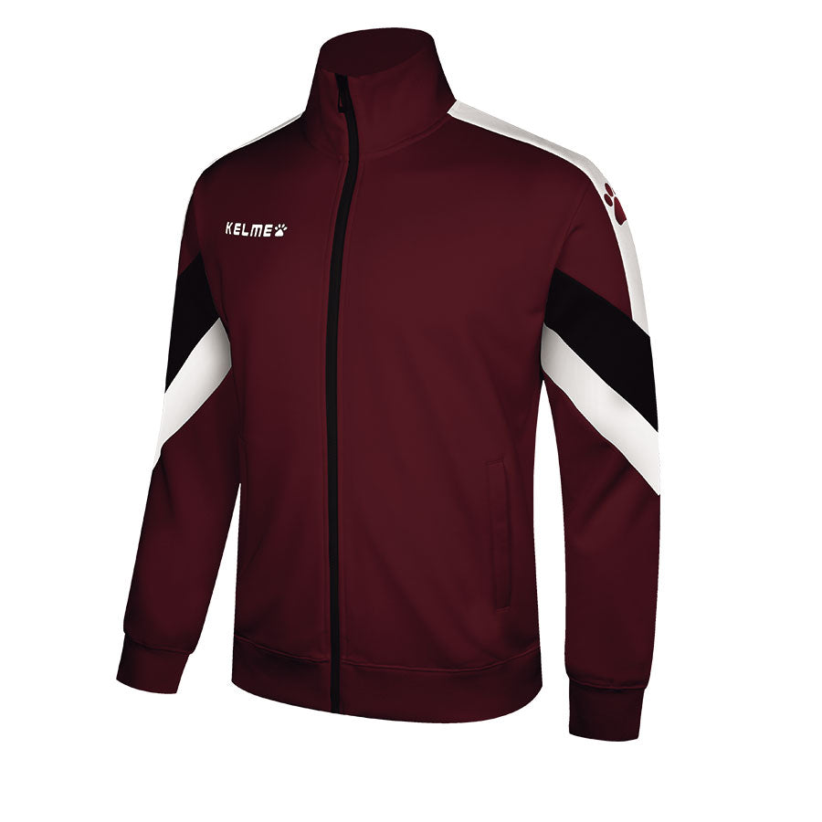 Knitted Adult Training Jacket / Wine Red