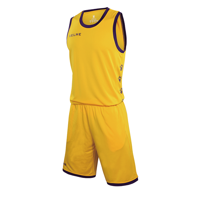 Kid's Basketball Set Yellow Purple