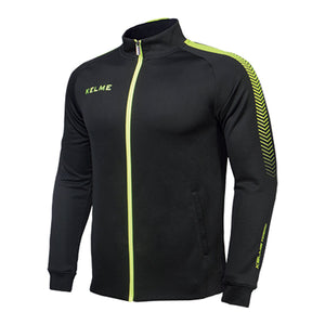 Kids Training Jacket Black / Neon Yellow