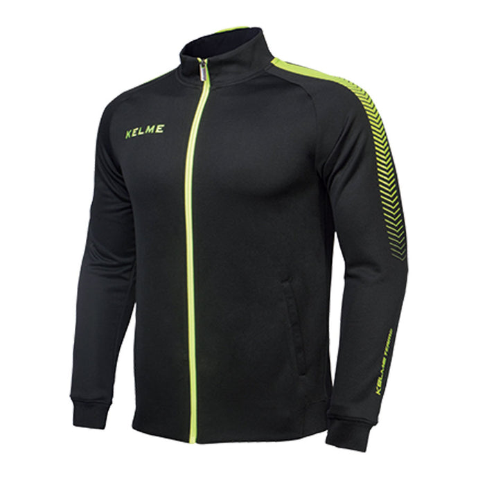 Training Jacket Adult Black / Neon Yellow