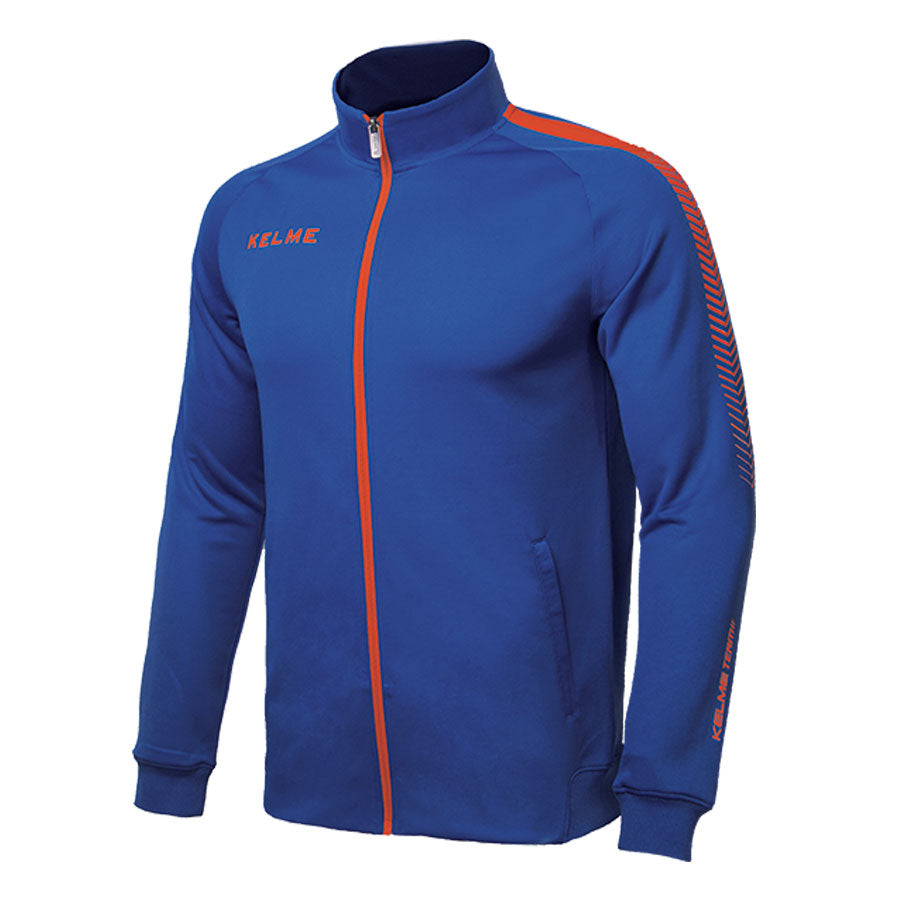 Training Jacket Adult Royal Blue / Neon Orange