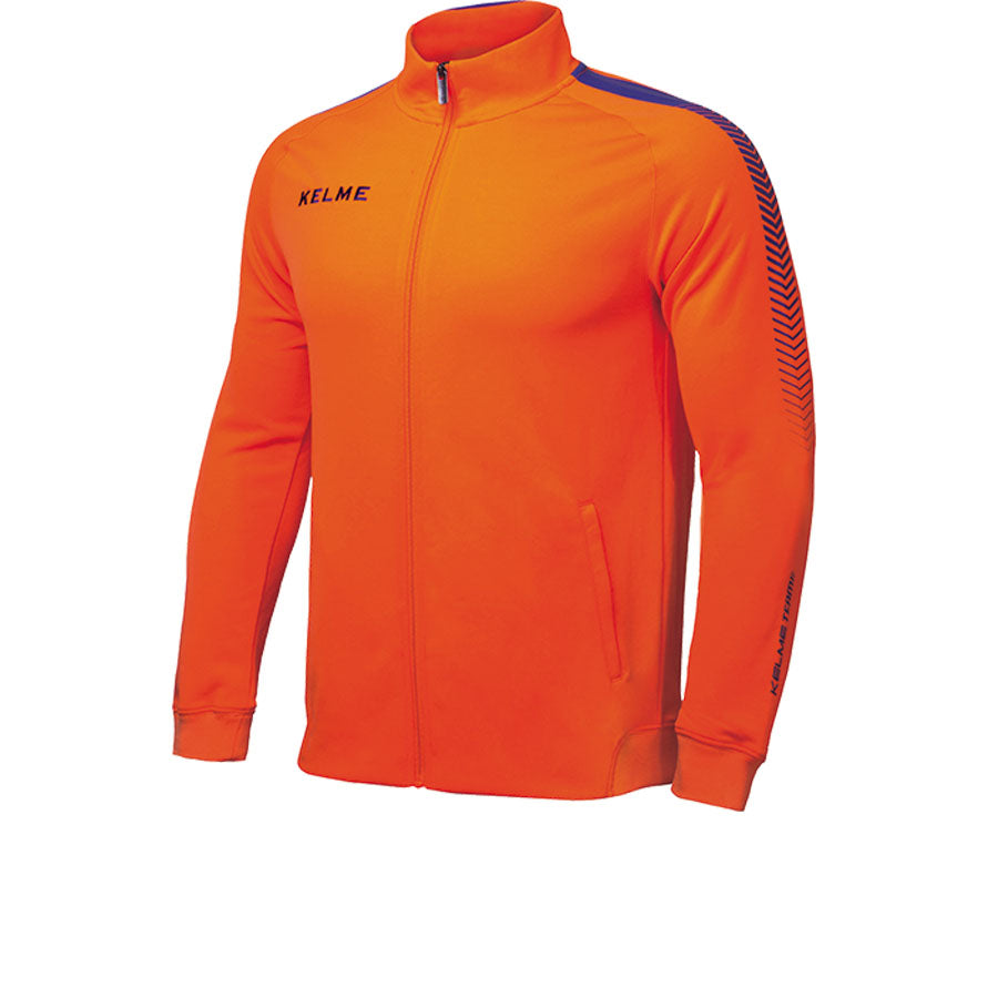 Training Jacket kids Neon Orange / Royal Blue