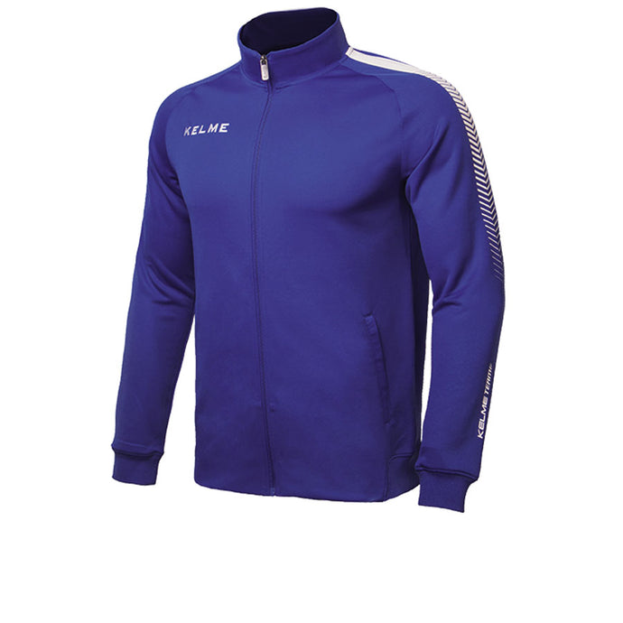 Kids Knitted Training Jacket Royal Blue/white